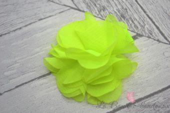 Barrette jaune fluo fleur fluo