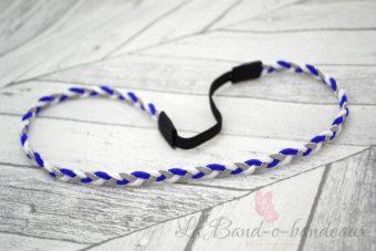 Headband bleu nuit gris et blanc