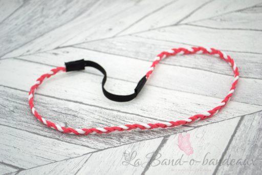 Headband blanc et corail
