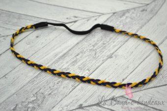 Headband bleu marine et jaune moutarde