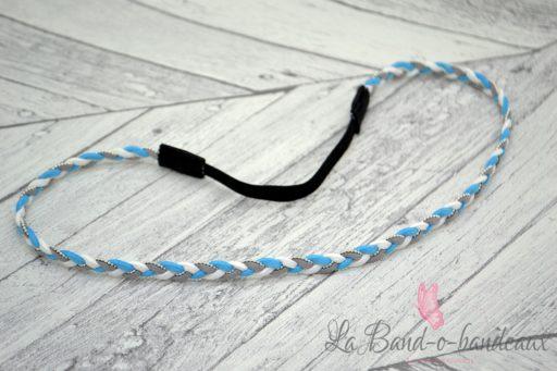Headband turquoise et gris