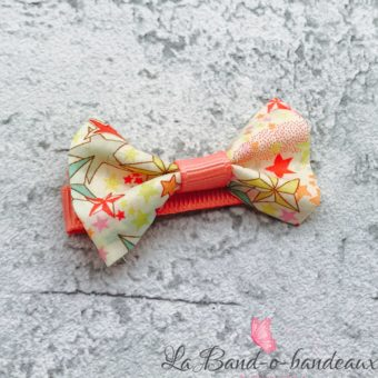 Barrette corail, noeud liberty
