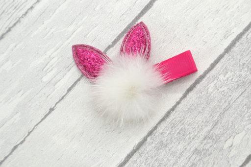 Barrette / Elastique thème oreilles de lapin