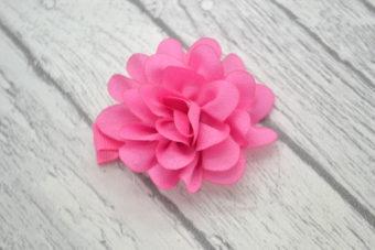Barrette rose fleur bonbon