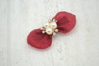 Collection Noël thème noeud organza rouge