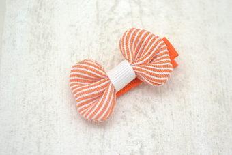 Collection Noël thème petit noeud rayé orange