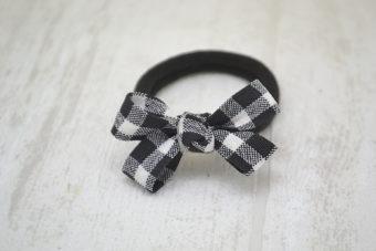 Collection Noël thème mini noeud vichy noir et blanc