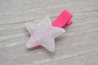 Collection Hiver étoile irisée rose pâle