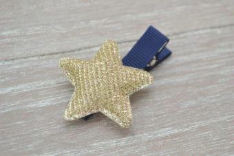 Collection Hiver étoile irisée dorée