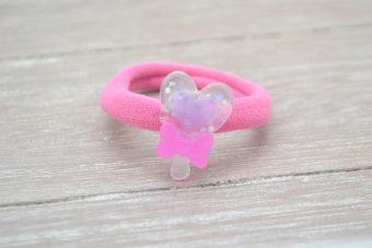 Collection Hiver mini sucette rose bonbon/parme