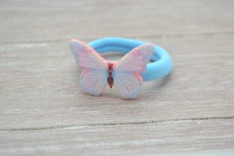Collection Hiver papillon irisé bleu pâle