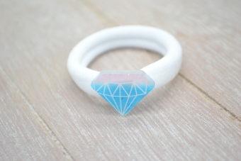 Collection Hiver diamant bleu