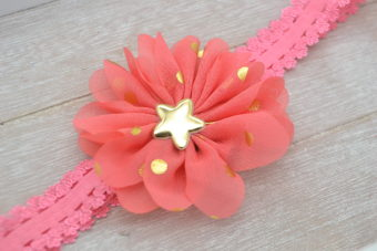 Collection Hiver fleur corail à pois doré étoilée