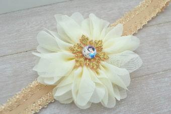 Collection Hiver fleur ivoire flocon Blanche Neige