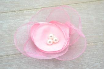 Collection Hiver fleur diadème rose