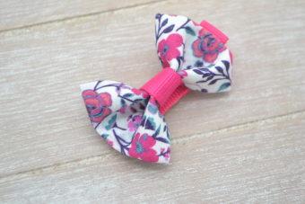 Collection Hiver noeud tissu fleuri fuschia