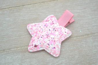 Collection Hiver étoile fluorescente rose pâle