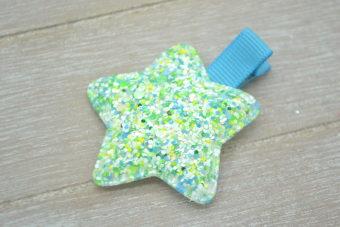 Collection Hiver étoile fluorescente turquoise/vert