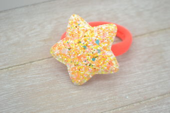 Collection Hiver étoile fluorescente orangée