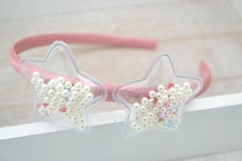 Collection Hiver duo étoiles perles libres ivoire