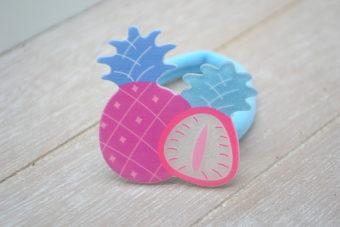 Collection Hiver ananas rose/bleu