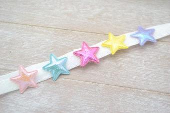 Collection Hiver diadème étoiles multicolores