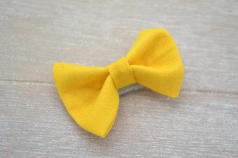 Collection Hiver noeud tissu jaune