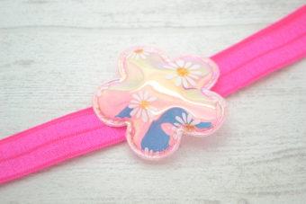 Collection Eté fleur miroir rose pâle pâquerettes