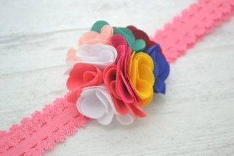 Collection Eté fleur mesh multicolore 6 cm