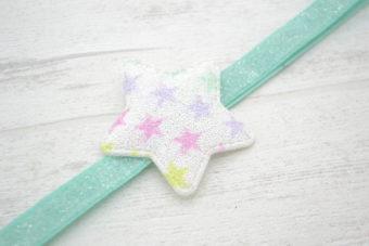 Collection Eté étoile pailletée imprimée étoiles