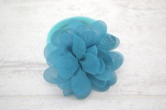 Collection Rentrée Fleur 5 cm émeraude