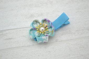 Collection Rentrée Fleur pétales turquoise/parme