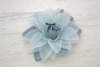 Collection Rentrée Fleur 2 tons gris bleuté