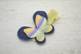 Collection Rentrée Double papillon rayures jaune