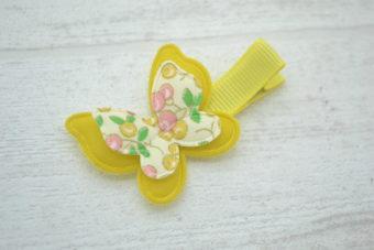 Collection Rentrée Double papillon imprimé cerises jaunes