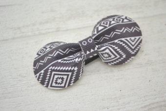 Collection Rentrée Noeud simili aztec noir