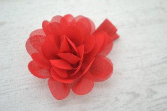 Collection RentréeFleur silky rouge